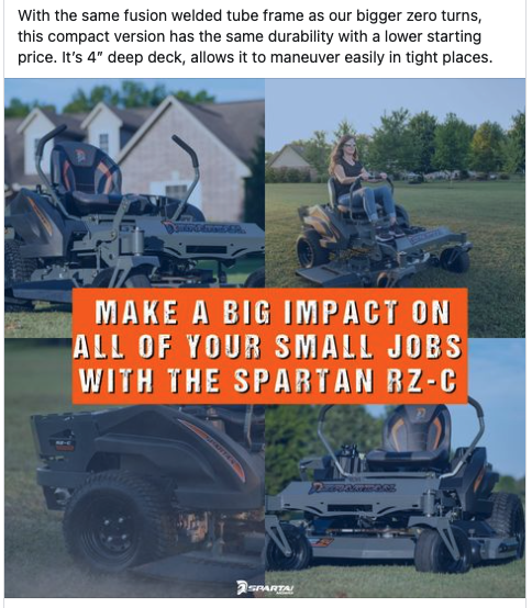 Spartan Mowers Content